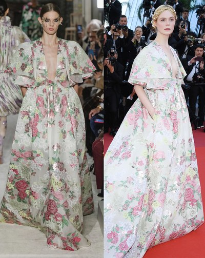 ال فانينج بفستان من  Valentino