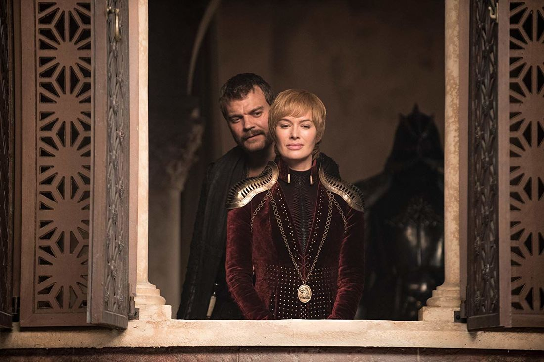 Lena Headey and Pilou Asbæk in Game of Thrones
