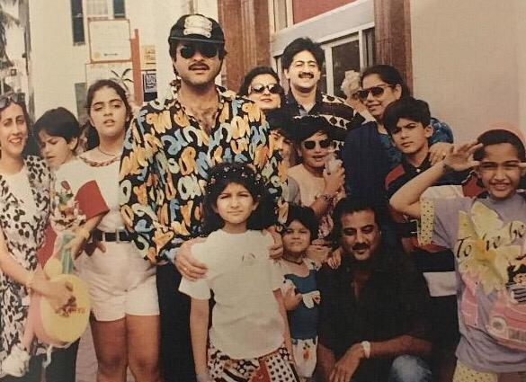 الممثلة سونام كابور مع والدها الممثل أنيل كابور