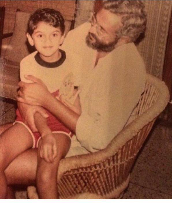 اديتى راو هيدارى مع والدها