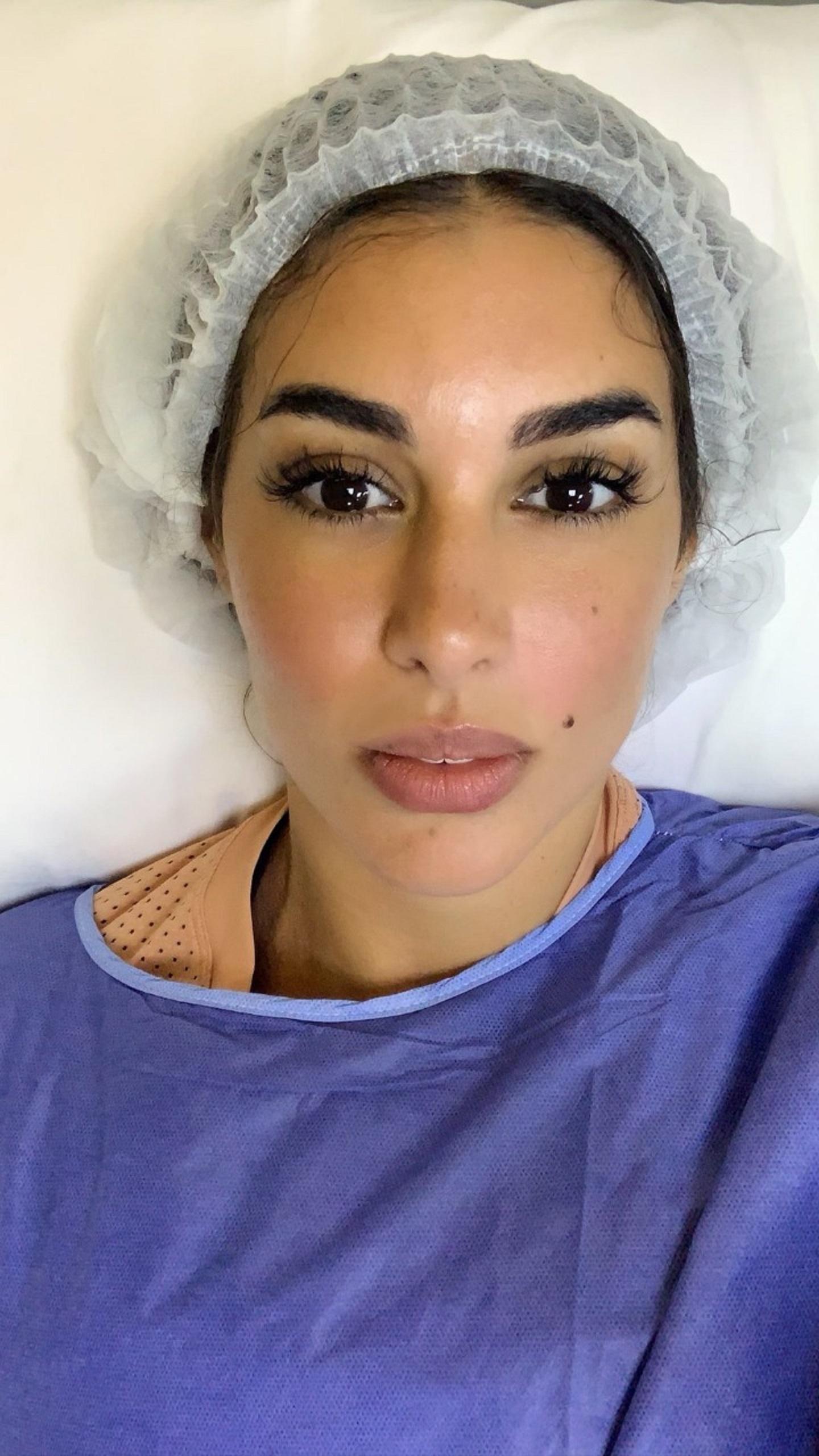 ياسمين صبرى فى غرفة العمليات