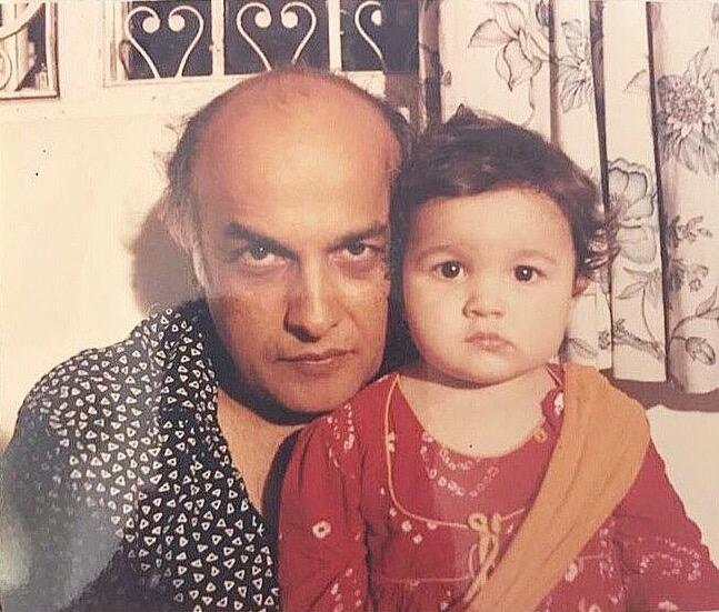 عليا بهزر مع والدها