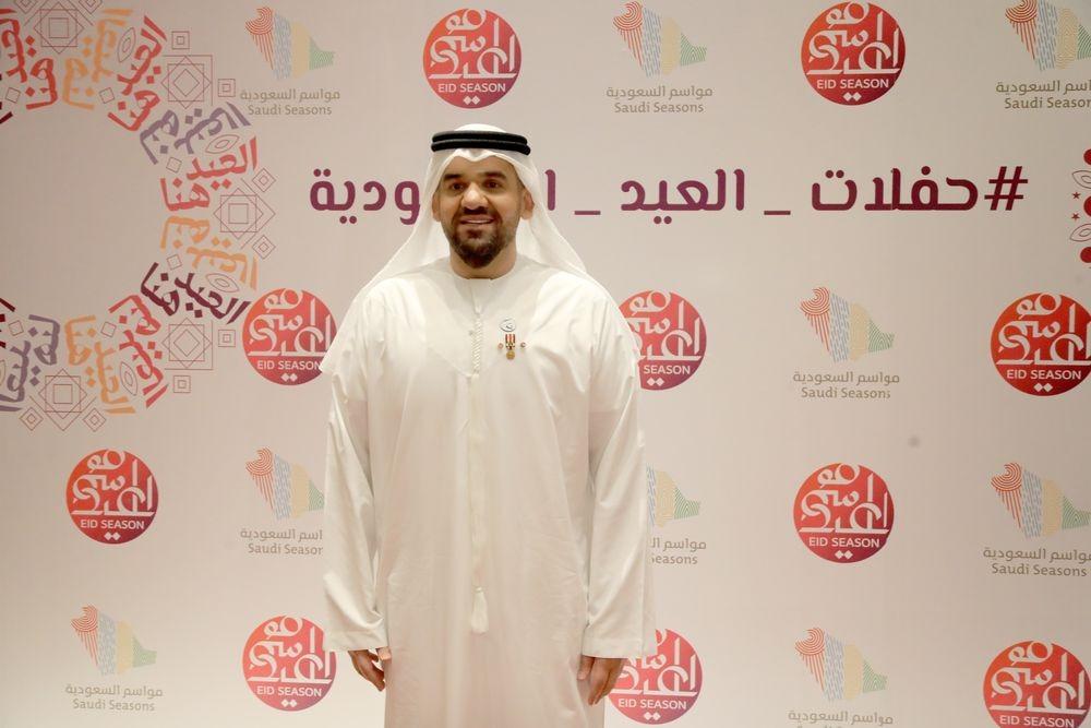 حسين الجسمى من حفل العيد بالسعودية
