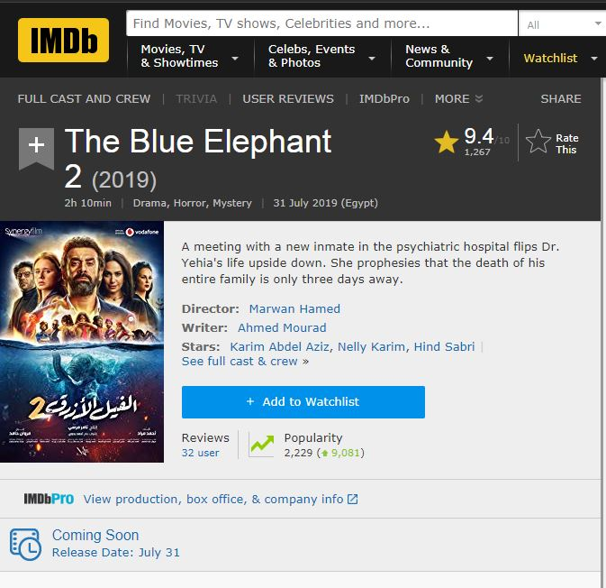 تقييم الفيل الازرق 2