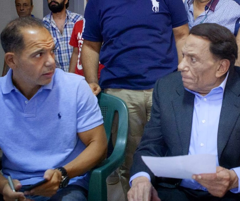 الزعيم مع المخرج رامي امام