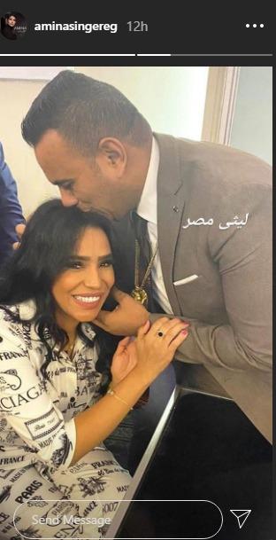 محمود الليثى و امينة