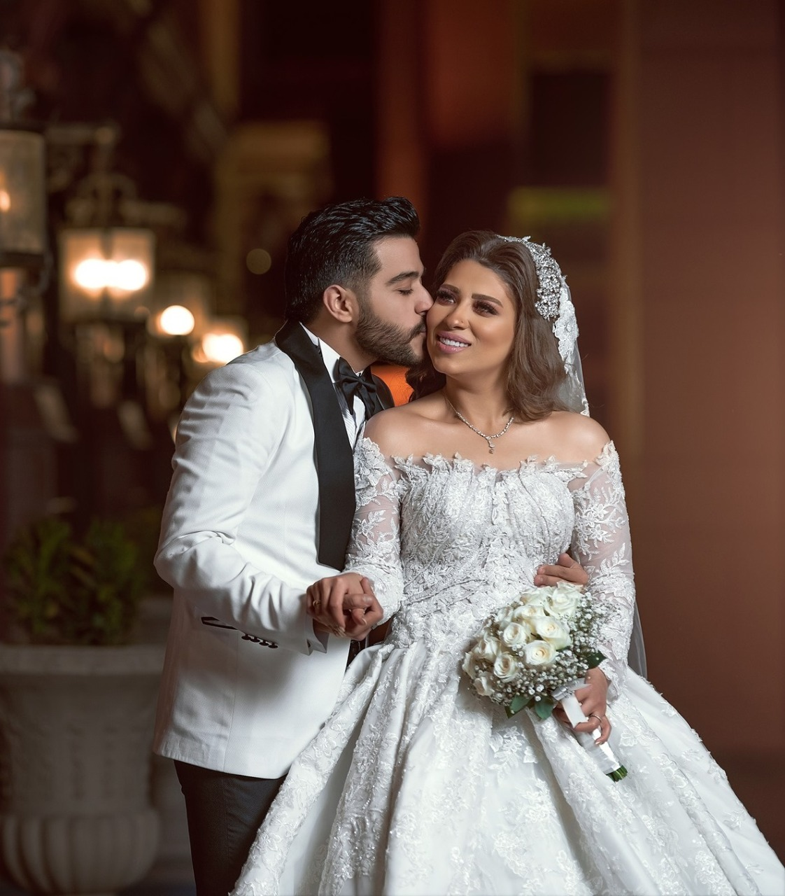 احمد كامل وزوجته نسمة