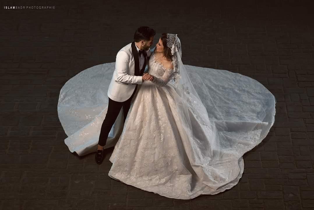 صور احمد كامل وزوجته نسمه