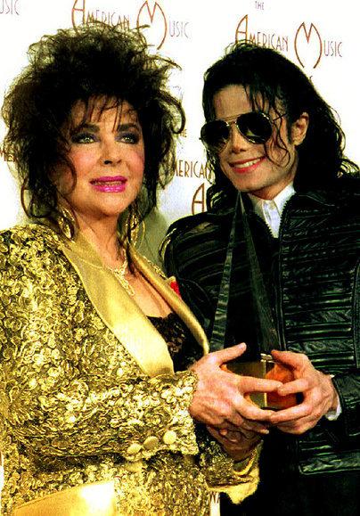 مع ليز تايلور عام 1993