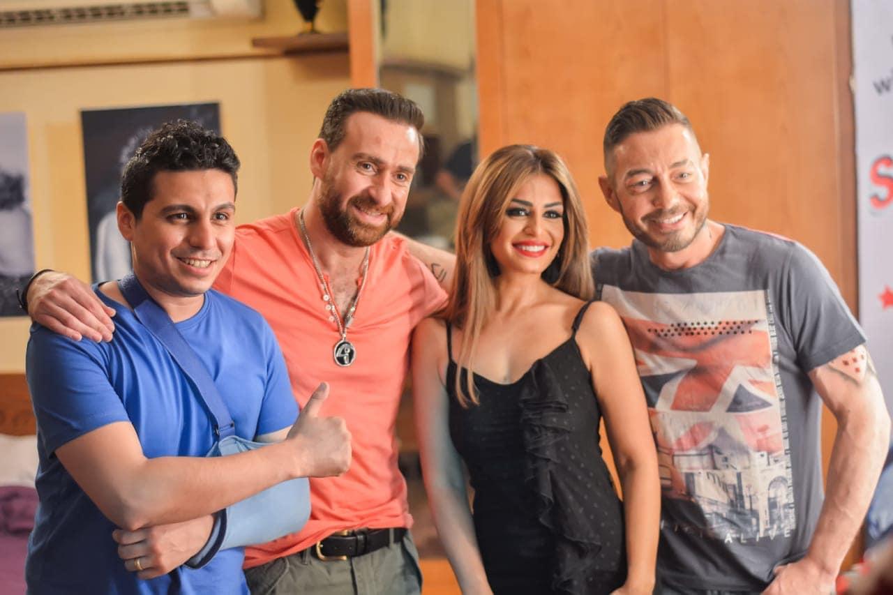 منة فضالى وأحمد زاهر ونضال الشافعى والمخرج إبرام نشأت