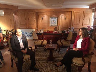 وزيرة الهجرة نبيلة مكرم مع محمد الباز برنامج