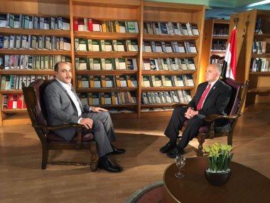 وزير الرى مع محمد الباز