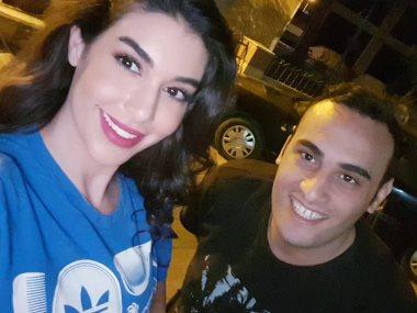 ياسمين صبرى والزميل محمد زكريا