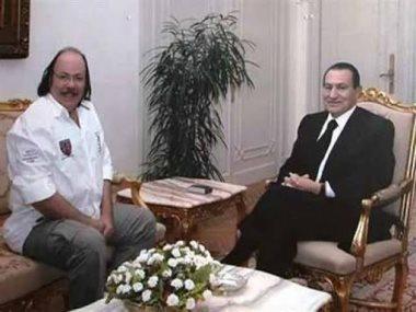 طلعت زكريا والرئيس الأسبق محمد حسنى مبارك