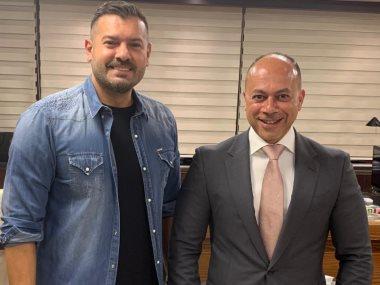 عمرو يوسف وتامر مرسى رئيس مجلس ادارة الشركة المتحدة للخدمات الاعلامية