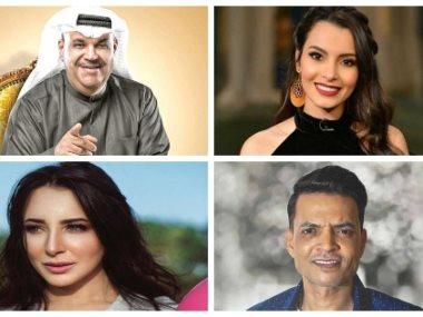 كارمن سليمان ونبيل شعيل وطارق الشيخ وساندى