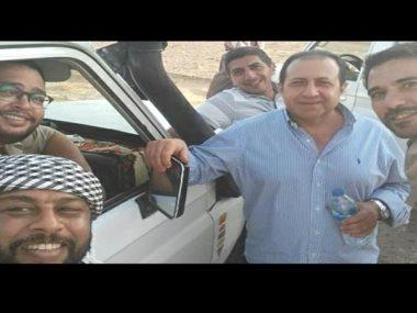 محمد جمعة فى كواليس فيلم الممر