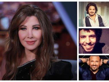 نانسى عجرم وشادى نور وهشام عباس ومصطفى حجاج