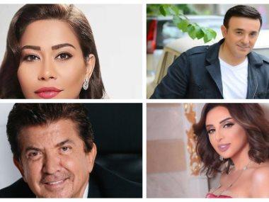 شيرين عبد الوهاب وعاصى الحلانى وأنغام ووليد توفيق