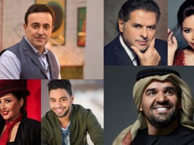 صابر الرباعى ولطيفة وأحمد جمال وراغب علامة وشيرين عبد الوهاب وحسين الجسمي