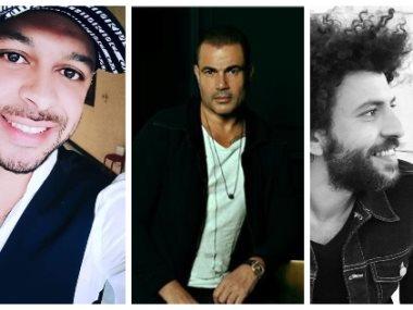 عمرو دياب وشادى نور وبلال سرور