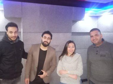 شيماء الشايب والشاعر محمود هلال