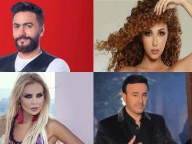 تامر حسني وصابر الرباعى ورولا سعد و ميريام فارس