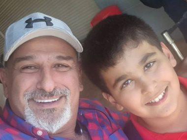 جمال سليمان وابنه