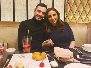 انغام وزوجها احمد ابراهيم