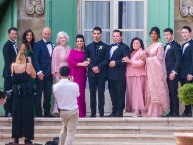 جانب من حفل زفاف صوفى تيرنر وجو جوناس