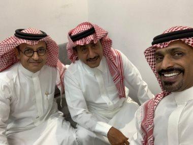 ناصر القصبى وعبدالإله السنانى وراشد الشمرانى