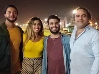 """محمد عزمى مع أبطال فيلم """"30 مارس"""""""