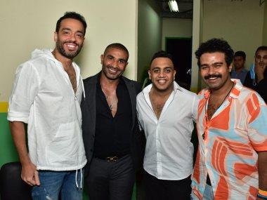 رامى جمال بعد حضوره مسرحية «صباحية مباركة»