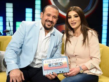 هشام عباس ودينا حايك