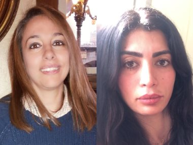 المخرجة مريم احمدى والكاتبة نجلاء الحدينى