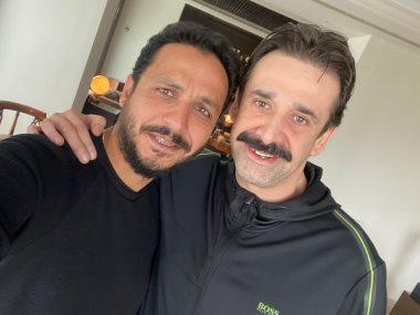 كريم عبد العزيز والمخرج بيتر ميمى