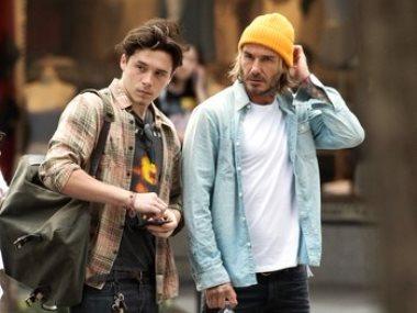 بيكهام وابنه بروكلين