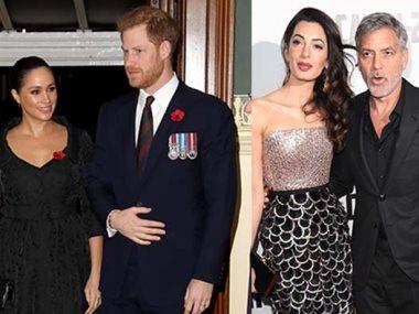 جورج كلونى والأمير هارى وزوجتاهما