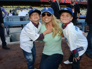 بريتنى سبيرز مع أطفالها