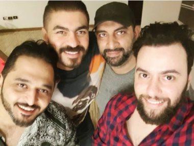خالد سليم ومدين وأحمد عبد السلام فى الاستوديو