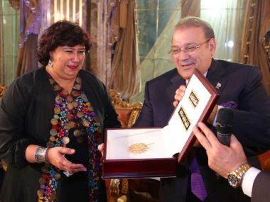 جانب من تكريم الدكتورة إيناس عبد الدايم وزيرة الثقافة