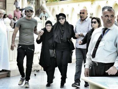 عمرو سعد فى جنازة حمدى قنديل