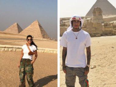زيارة كورتنى كاردشيان وتايجا لمصر
