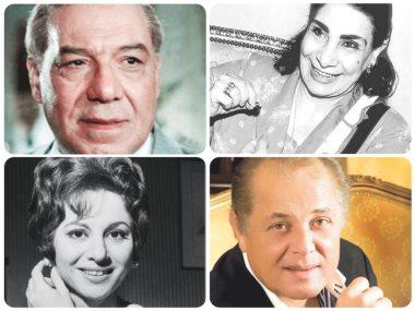 فريد شوقى ومحمود عبد العزيز وفاتن حمامة ومارى منيب