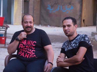 محمد ثروت فى كواليس فيلم ريما