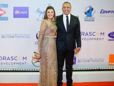 الكاتب الصحفى خالد صلاح وزوجته الإعلامية شريهان ابو الحسن