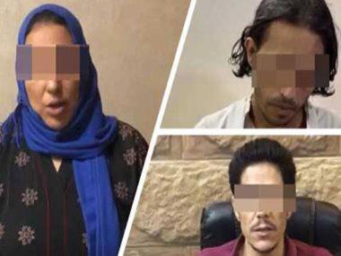 المتهمون الثلاثة مروة وياسين شعبان ومحمد عبد العاطى