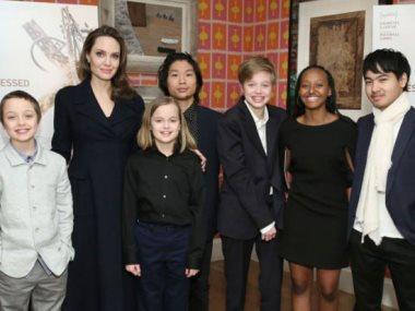 أنجلينا جولى وأبنائها