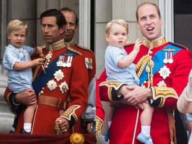 الأمير لويس والأمير ويليام فى صورة طفولة متطابقة