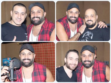 مصطفى محفوظ مع حسام حبيب ومحمد دياب وتوما